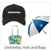 Umbrellas, Hats and Bags